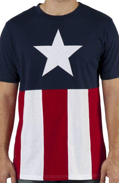 Knit Captain America Shirt