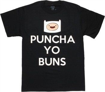 Adventure Time Finn Head Puncha Yo Buns T-Shirt