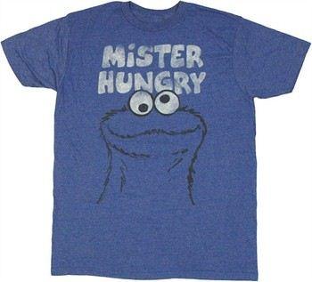 Sesame Street Cookie Monster Mister Hungry T-Shirt Sheer