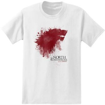 Game of Thrones The North Remembers Adult White T-Shirt