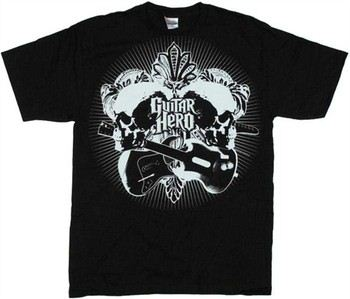 Guitar Hero Leaves Skulls T-Shirt