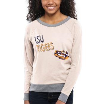 LSU Tigers Women's Crazy Love Boat Neck Long Sleeve T-Shirt – Cream