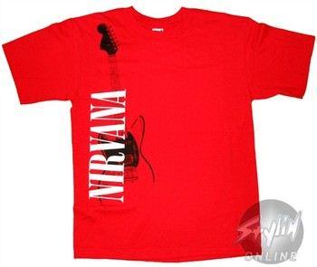 Nirvana Vertical Name Red T-Shirt