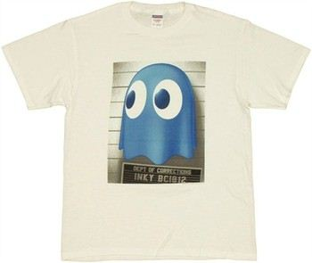 Pac-Man Inky Mug Shot T-Shirt