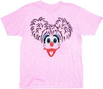 Sesame Street Abby Cadabby Fairy Face Light Pink T-shirt