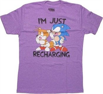 Sonic the Hedgehog Tails I'm Just Recharging T-Shirt