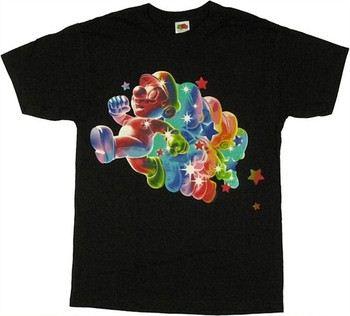 Nintendo Super Mario Galaxy Invulnerable Rainbow Mario T-Shirt