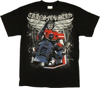 Transformers Optimus Prime Kneel Wings T-Shirt
