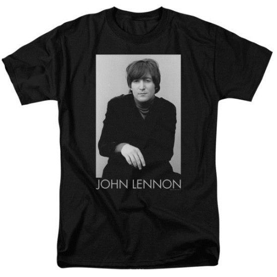 John Lennon Shirt Ex Beatle Black Tee T-Shirt