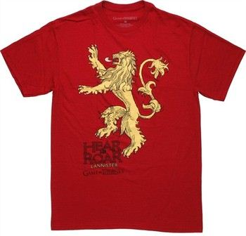 Game of Thrones Lannister Lion Hear Me Roar Bold T-Shirt