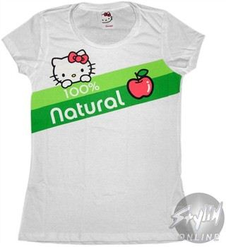 Hello Kitty 100% Natural Baby Doll Tee by MIGHTY FINE