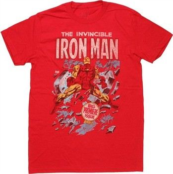 Marvel Comics Iron Man First Issue Cover Jack of All Trades T-Shirt Sheer