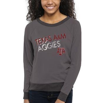 Texas A&M Aggies Women's Crazy Love Boat Neck Long Sleeve T-Shirt – Charcoal