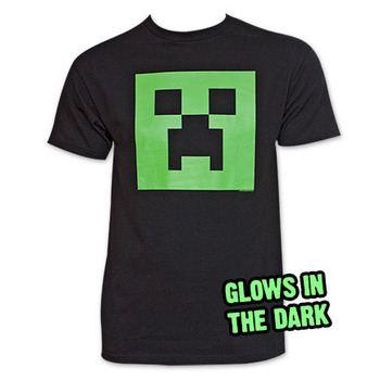 Minecraft Creeper Tee Shirt Black