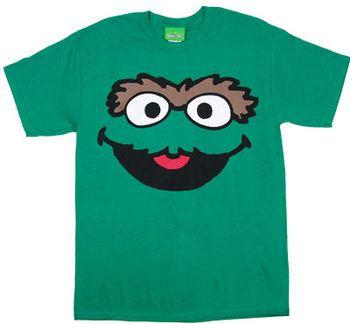 Oscar Face Version 2 - Sesame Street T-shirt