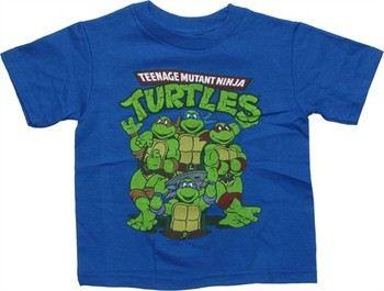 Yellow Teenage Mutant Ninja Turtles Classic Group Logo  Shirt Nickelodeon M