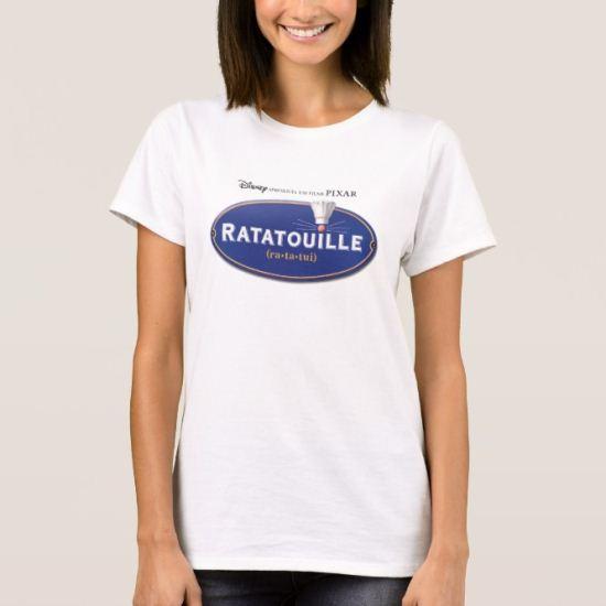Ratatouille Movie logo Design Disney T-Shirt
