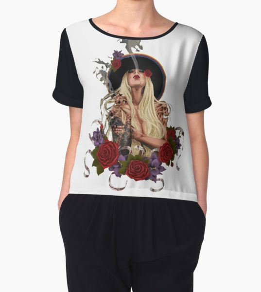 Maria Brink Women's Chiffon Top by BrunaAmorim T-Shirt