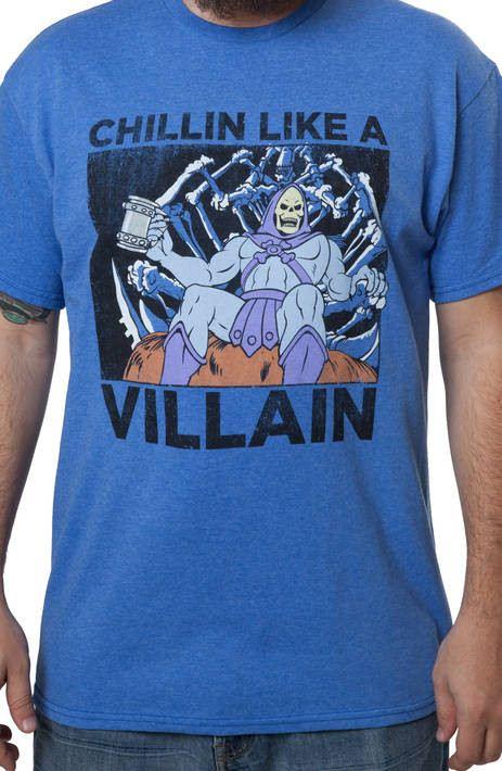 Chillin Like A Villain Skeletor Shirt