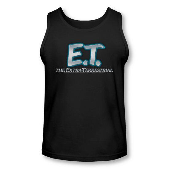 ET Shirts - Extra Terrestrial Tank Top Logo Black Tanktop