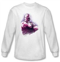 Batman Shirt The Dark Knight Rises Spray Bane White Long Sleeve Shirt