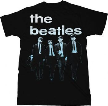 The Beatles Run For Your Life Adult Black T-Shirt