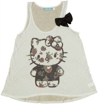 Hello Kitty Floral Kitty Ladies Tee by MIGHTY FINE
