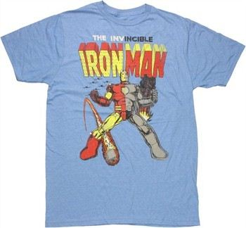 Marvel Comics Iron Man Past and Present Split Suit Jack of All Trades T-Shirt Sheer