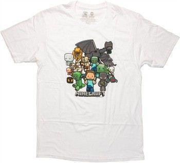 Minecraft Group White T-Shirt
