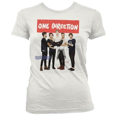 One Direction: One Direction Holding White Skinny T-Shirt - Small