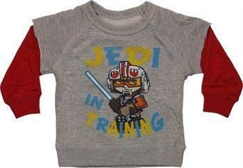 Star Wars Jedi Training Quad Reversible Tee Sleeve Infant Sweatshirt
