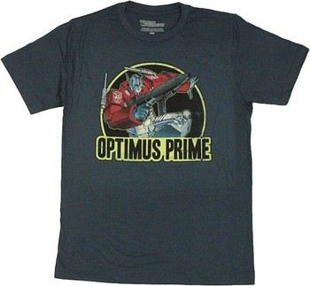 Transformers Optimus Prime Action Circle T-Shirt Sheer