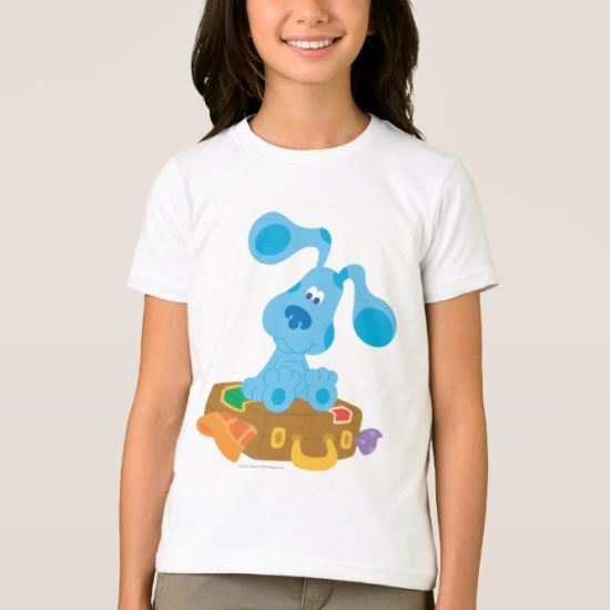 Blue's Clue - Sitting on  a suitcase T-Shirt