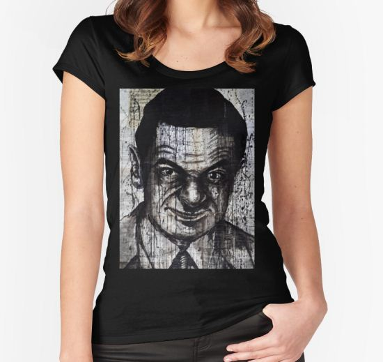 mr bean Women's Fitted Scoop T-Shirt by Krzyzanowski Art T-Shirt