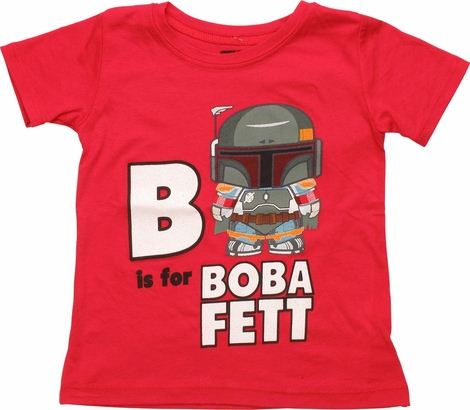 Star Wars B is For Boba Fett Toddler T-Shirt