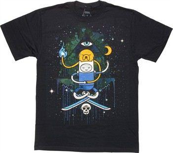Adventure Time Seeing Eye Duo Jake Finn T-Shirt
