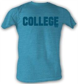 Animal House  T-shirt Movie College Blue Adult Turquoise Tee Shirt