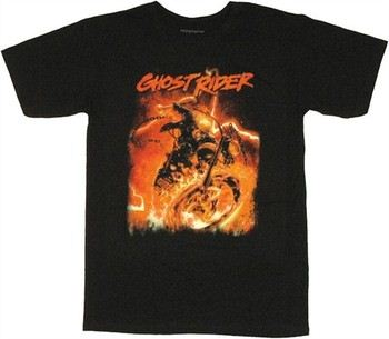 Marvel Comics Ghost Rider Chains Flame T-Shirt