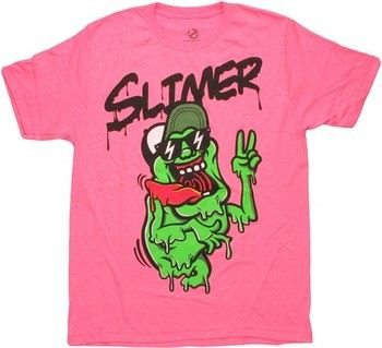 Ghostbusters Slimer Heather Pink T-Shirt Sheer