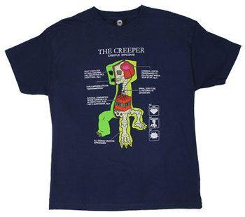 Creeper Anatomy - Minecraft Youth T-shirt