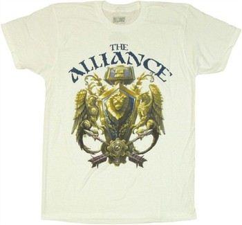 Activision Blizzard World of Warcraft Alliance 3D Crest T-Shirt Sheer