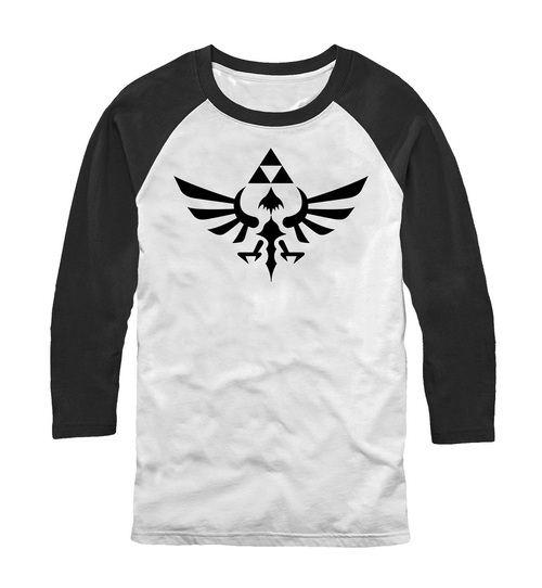 Nintendo Legend of Zelda Triumphant Triforce Adult Raglan T-Shirt