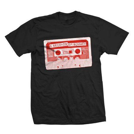 5 Seconds of Summer: 5SOS: Red Cassette T-Shirt