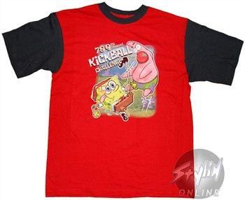 Spongebob Squarepants 789th Annual Kickball Challenge Red Youth T-Shirt
