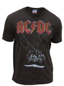 Junk Food AC/DC Insect Washed Black Mens T-shirt