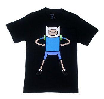 Pixel Finn - Adventure Time T-shirt