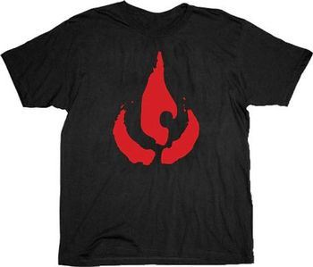 The Last Airbender Fire Clan Black Adult T-Shirt