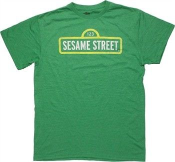 Sesame Street Vintage Sign Logo T-Shirt Sheer