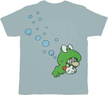 Nintendo Super Mario Brothers 3 Frog Adult T-shirt