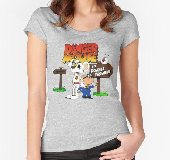 Danger Mouse Trouble Women's Fitted Scoop T-Shirt by ZananaBanana T-Shirt
